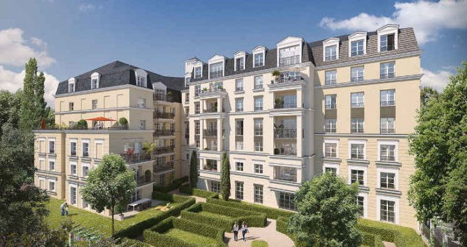 Achat / Vente immobilier neuf Plessis-Robinson proche parc Henri-Sellier (92350) - Réf. 4107
