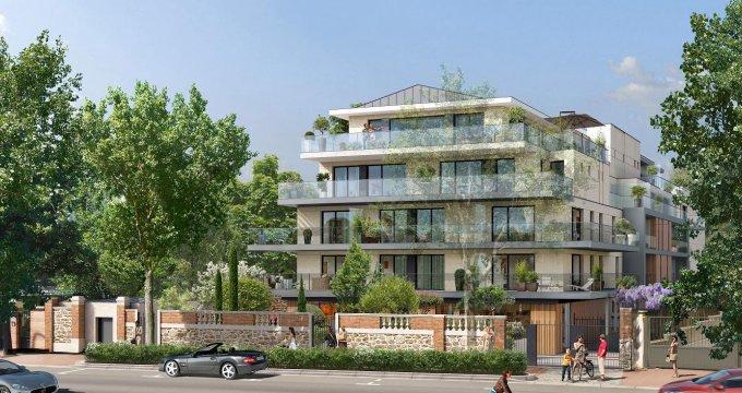 Achat / Vente immobilier neuf Saint-Cloud face au jardin des Avelines (92210) - Réf. 4016