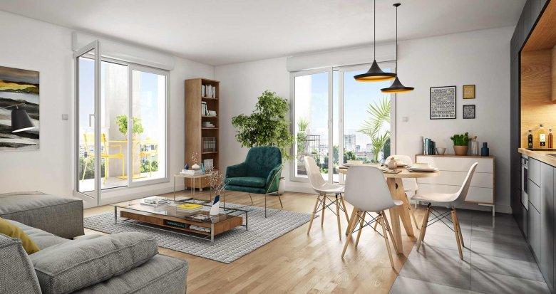 Achat / Vente immobilier neuf Asnières-sur-Seine entre ville et nature (92600) - Réf. 4237