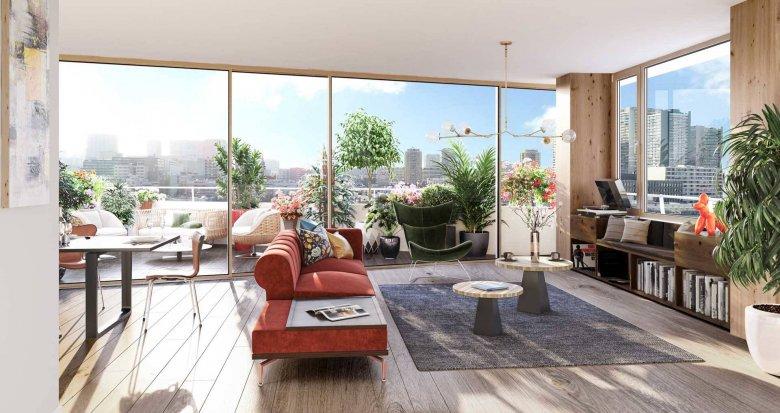 Achat / Vente immobilier neuf Paris 13 proche bibliothèque François Mitterrand (75013) - Réf. 6176