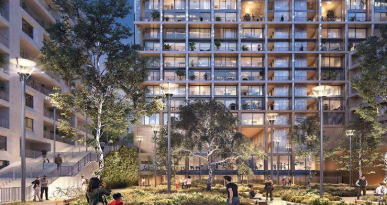 Achat / Vente immobilier neuf Paris 13e au coeur du quartier Bruneseau (75013) - Réf. 5337